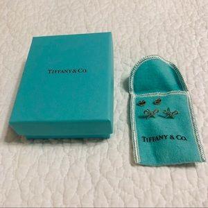 Tiffany & Co. Sterling Silver Bow Earrings